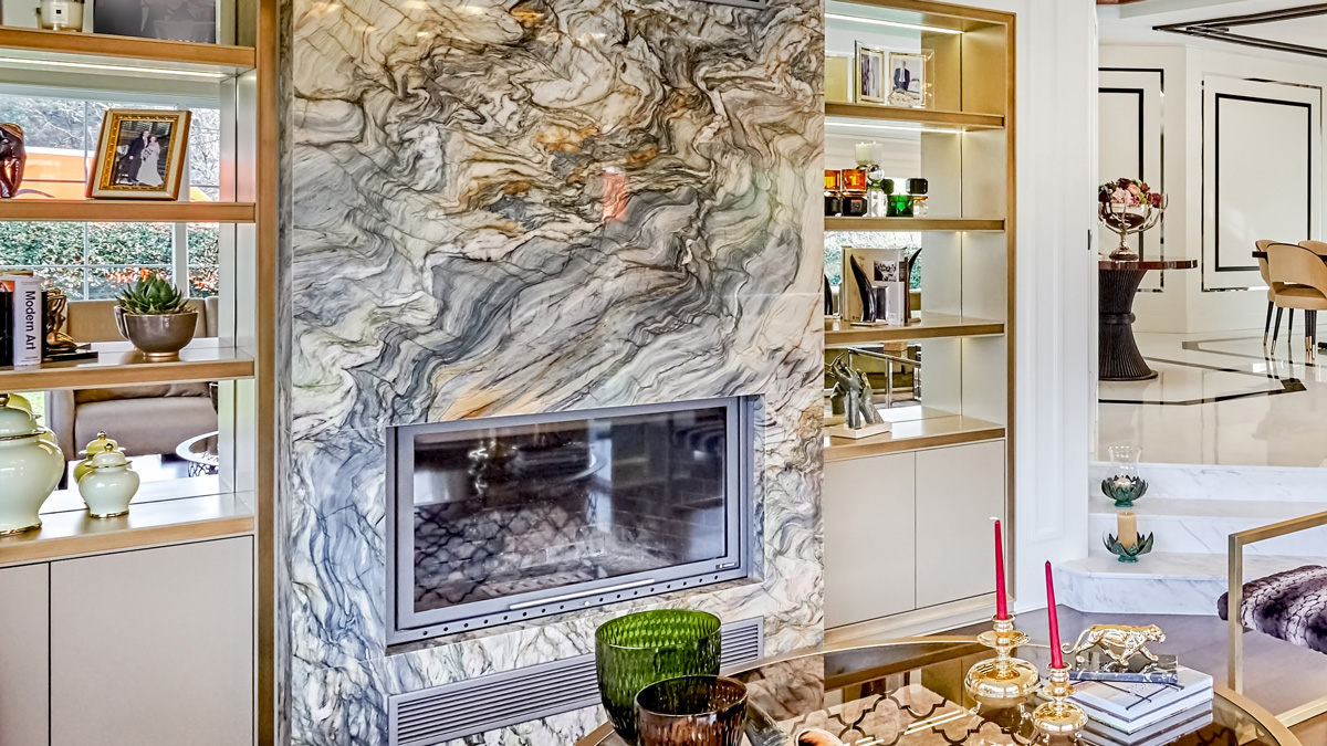 Fusion Wow Green Fireplace