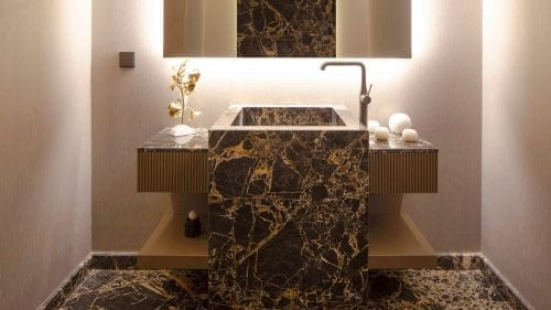 Projects House  Bathroom Sink  Portoro Gold