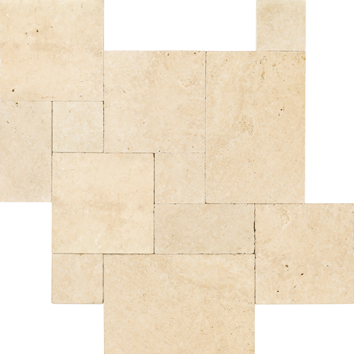 Antique Collection French Pattern Tumbled Travertine